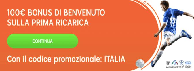 888 Sport Bonus Benvenuto