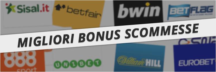 i migliori bonus scommesse